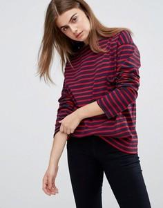 Свободная футболка в полоску M.i.H Jeans - Темно-синий