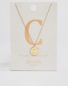 Позолоченное ожерелье с инициалом С от Orelia - Золотой
