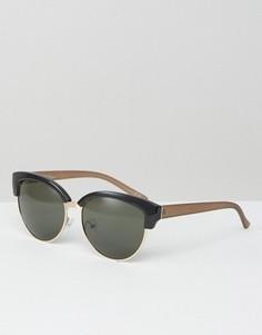 Солнцезащитные очки кошачий глаз с контрастными дужками Jeepers Peepers - Коричневый