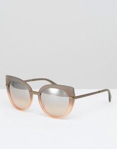 Солнцезащитные очки кошачий глаз с зеркальными стеклами Marc By Marc Jacobs - Розовый