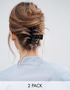 2 большие заколки-краба для волос ASOS - Мульти