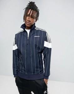 Темно-синий свитшот в тонкую полоску adidas Originals Tokyo Pack BK2231 - Темно-синий