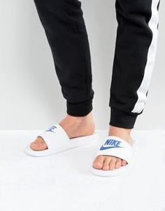 Белые шлепанцы Nike Benassi JDI 343880-102 - Белый