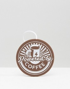 USB-подогреватель для кружки с принтом Powered By Coffee - Мульти Blue Sky