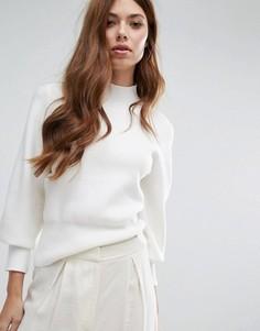 Вязаный oversize-джемпер Selected - Белый