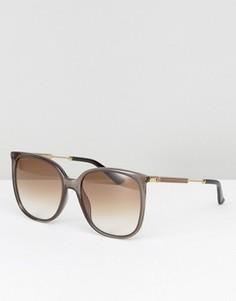 Большие квадратные солнцезащитные очки Gucci - Серый