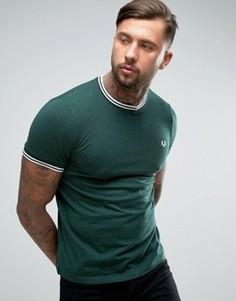 Зеленая футболка Fred Perry - Зеленый
