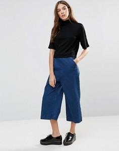 Джинсовая юбка-шорты Neon Rose - Синий