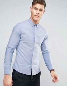 Голубая оксфордская рубашка скинни ASOS - Синий