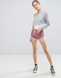 Классические шорты для бега с контрастным кантом ASOS - Фиолетовый