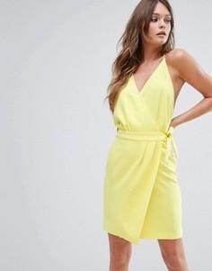 Желтое платье мини с запахом BA&SH - Желтый Ba&Sh