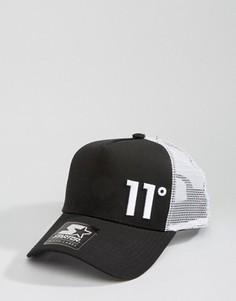 Черная бейсболка 11 Degrees - Черный
