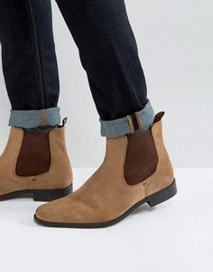 Коричневые замшевые ботинки челси Dune Marky - Рыжий