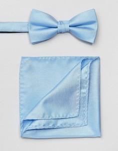 Галстук-бабочка и платок для пиджака Selected Homme - Синий