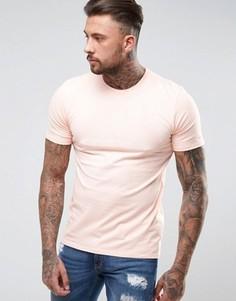 Розовая футболка с большим принтом логотипа Nike 897143-876 - Розовый