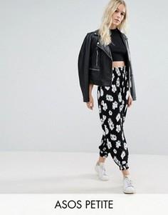 Полупрозрачные широкие брюки с цветочным принтом ASOS PETITE - Мульти