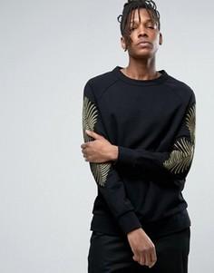 Свитер с вышивкой Weekday - Черный