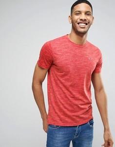 Красная меланжевая футболка узкого кроя Hollister - Красный