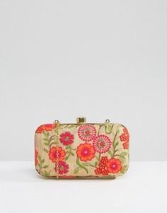 Клатч с цветочной вышивкой ручной работы Park Lane - Красный