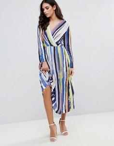 Платье-рубашка в полоску Closet London - Мульти