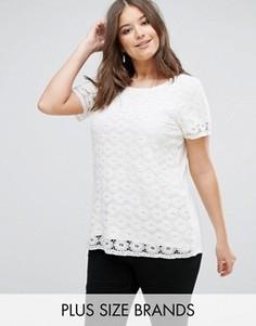 Фактурная футболка Junarose - Кремовый