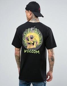 Футболка с черепом на спине Volcom x Tetsunori - Черный