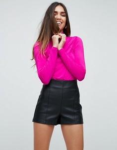 Облегающее боди со складками ASOS NIGHT - Розовый
