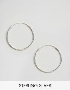 Серебряные большие серьги-кольца Fashionology - Серебряный