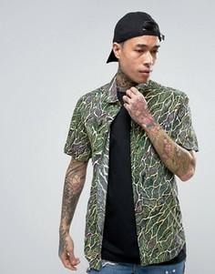 Рубашка с принтом Volcom x Tetsunori - Зеленый