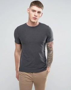 Меланжевая футболка Jack & Jones - Серый