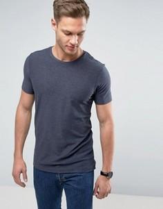 Меланжевая футболка Jack & Jones - Темно-синий