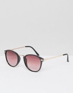 Черные круглые солнцезащитные очки A J Morgan - Черный