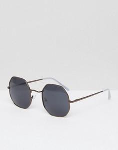 Круглые золотистые солнцезащитные очки A J Morgan - Золотой