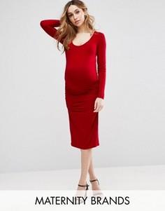 Платье миди Isabella Oliver Eldon Maternity - Красный