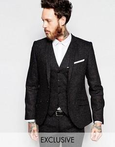 Супероблегающий пиджак в разноцветную крапинку Heart & Dagger - Черный