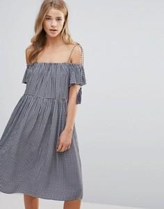 Платье с открытыми плечами Little White Lies Francoise - Синий
