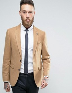 Узкий твидовый блейзер Burton Menswear - Рыжий