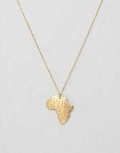 Ожерелье с подвеской Rock N Rose Africa - Золотой