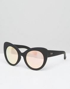 Солнцезащитные очки кошачий глаз Quay Australia - Черный
