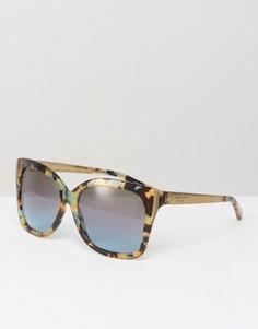 Солнцезащитные очки в D-образной оправе Michael Kors - Синий