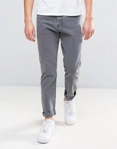 Серые выбеленные джинсы узкого кроя Weekday - Серый