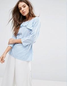 Рубашка в голубую полоску с поясом Y.A.S Nima - Мульти