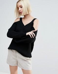 Джемпер с вырезами на плечах Vero Moda - Черный