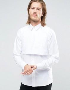 Облегающая рубашка с манишкой Rogues of London - Белый