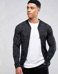 Трикотажная куртка с камуфляжным принтом Brave Soul - Черный