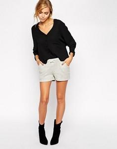 Серые шорты в полоску By Zoe - Серый