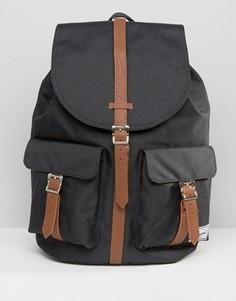 Черный рюкзак с контрастными светло-коричневыми ремешками Herschel Supply Co Dawson - Черный