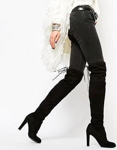 Черные ботфорты на каблуке Carvela Sammy - Черный
