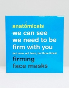 3 укрепляющие маски для лица - Anatomicals We Can See We Need To Be Firm With You - Бесцветный
