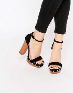Черные сабо на каблуке и платформе Lipsy Bella - Черный